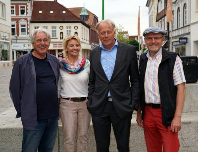 Grüne aus Oyten und Ottersberg treffen Jürgen Trittin, v.l. Hubert Dapper, Karin Labinsky-Meyer, Jürgen Trittin, Erich von Hofe