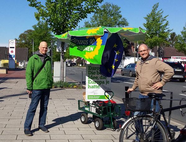 Das grüne Wahlmobil ist unterwegs